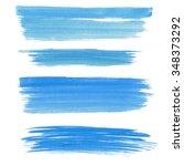 a set of light blue watercolor... | Shutterstock . vector #348373292