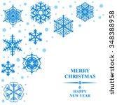 illustrations of christmas card ... | Shutterstock . vector #348388958