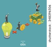 investing into idea isometric... | Shutterstock .eps vector #348396506