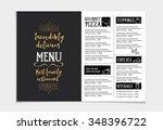 vector restaurant brochure ... | Shutterstock .eps vector #348396722
