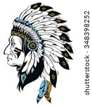 indian chief | Shutterstock .eps vector #348398252
