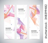 abstract geometric banner... | Shutterstock .eps vector #348399482