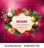 christmas background with... | Shutterstock .eps vector #348400736