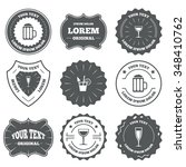 vintage emblems  labels.... | Shutterstock . vector #348410762