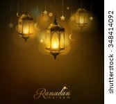 ramadan kareem glow arabic...   Shutterstock .eps vector #348414092