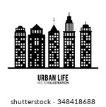 urban life concept with... | Shutterstock .eps vector #348418688