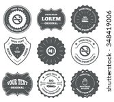 vintage emblems  labels. stop... | Shutterstock . vector #348419006