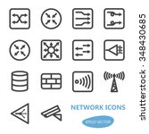 network devices icon set  ... | Shutterstock .eps vector #348430685