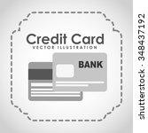 credit card design  vector... | Shutterstock .eps vector #348437192