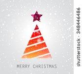 merry christmas seasonal...   Shutterstock . vector #348446486