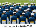 Small photo of Air Force Academy Cadets in formation