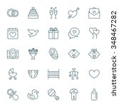 wedding and baby vector icons... | Shutterstock .eps vector #348467282