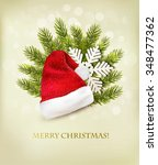 Holiday Background With A Sant...