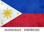 flag of philippines | Shutterstock . vector #348480182