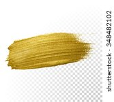 vector gold paint smear stroke... | Shutterstock .eps vector #348482102