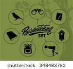 birdwatching infographic set   Shutterstock .eps vector #348483782