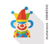 circus clown flat icon | Shutterstock .eps vector #348485342