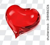 Big Transparent Heart In Red...