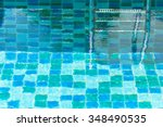 swimming pool and entrance... | Shutterstock . vector #348490535