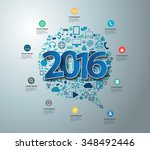 blue tags label 2016 text... | Shutterstock .eps vector #348492446