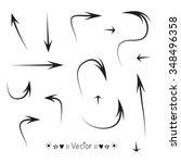 vector set hand drawn rectangle ... | Shutterstock .eps vector #348496358