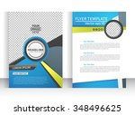 abstract vector modern flyer  ... | Shutterstock .eps vector #348496625