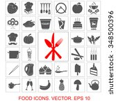 food set vector icons | Shutterstock .eps vector #348500396