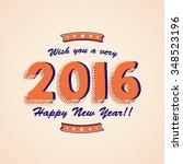 elegant greeting card design... | Shutterstock .eps vector #348523196