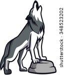 howling wolf | Shutterstock .eps vector #348523202