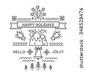christmas card for winter... | Shutterstock .eps vector #348528476