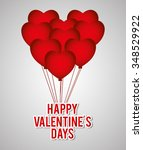 happy valentines day colorful... | Shutterstock .eps vector #348529922