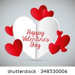 happy valentines day colorful... | Shutterstock .eps vector #348530006
