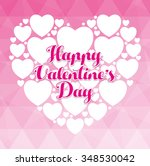 happy valentines day colorful... | Shutterstock .eps vector #348530042