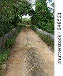barbados country lane   Shutterstock . vector #348531