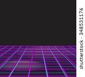 retro style disco design neon... | Shutterstock .eps vector #348531176