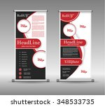 roll up banner abstract... | Shutterstock .eps vector #348533735
