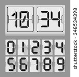 codes and digits icons graphic...   Shutterstock .eps vector #348534398