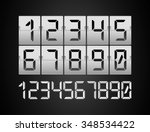 codes and digits icons graphic... | Shutterstock .eps vector #348534422