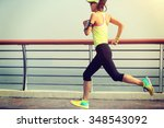 young fitness woman runner... | Shutterstock . vector #348543092