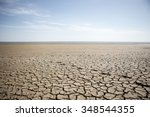 dry cracked desert. background. ... | Shutterstock . vector #348544355