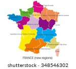 france vector map  new regions | Shutterstock .eps vector #348546302