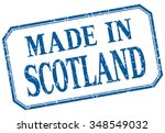 scotland   made in blue vintage ... | Shutterstock .eps vector #348549032