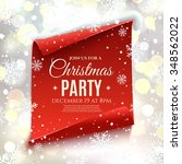 christmas party invitation. red ... | Shutterstock . vector #348562022