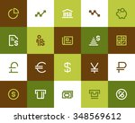 finance and bank icons. flat... | Shutterstock .eps vector #348569612