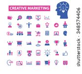 creative marketing  icons ... | Shutterstock .eps vector #348574406