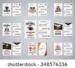 american football brochure set. ... | Shutterstock .eps vector #348576236