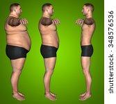 concept or conceptual 3d fat... | Shutterstock . vector #348576536