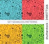 soccer seamless pattern set.... | Shutterstock .eps vector #348577166