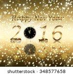 happy new year 2016 | Shutterstock . vector #348577658