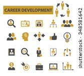 career development  icons ... | Shutterstock .eps vector #348581642